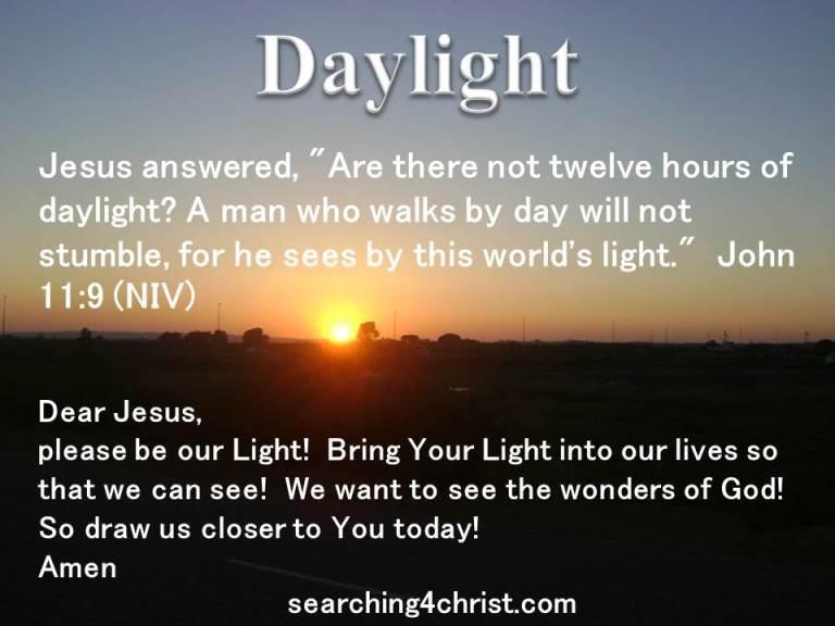 Resultado de imagen para day light christ