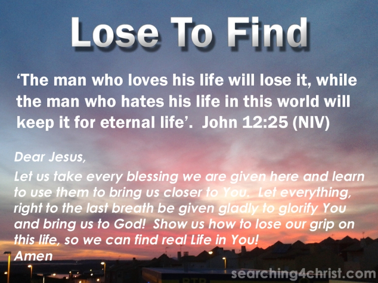 Lose To Find