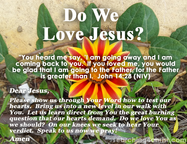 Do We Love Jesus?