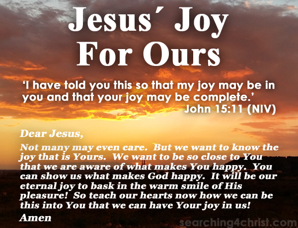 Jesus´ Joy For Ours