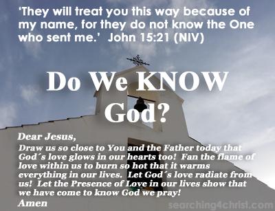 Do We KNOW God?