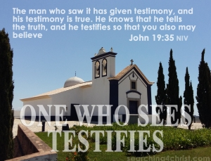One Who Sees Testifies
