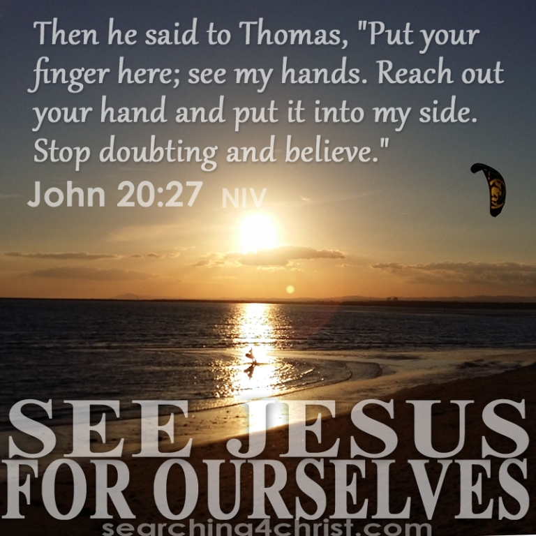 See Jesus For Ourselves