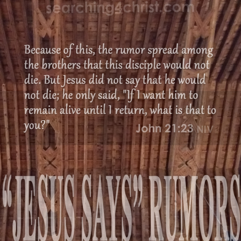 ¨Jesus Says¨ Rumors