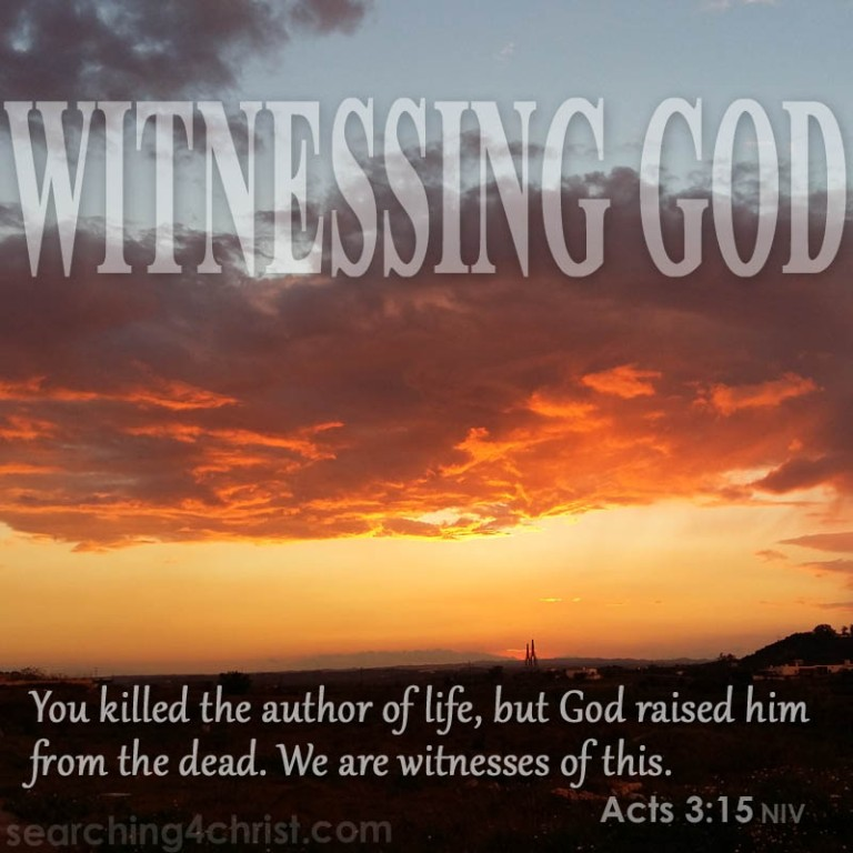 Witnessing God