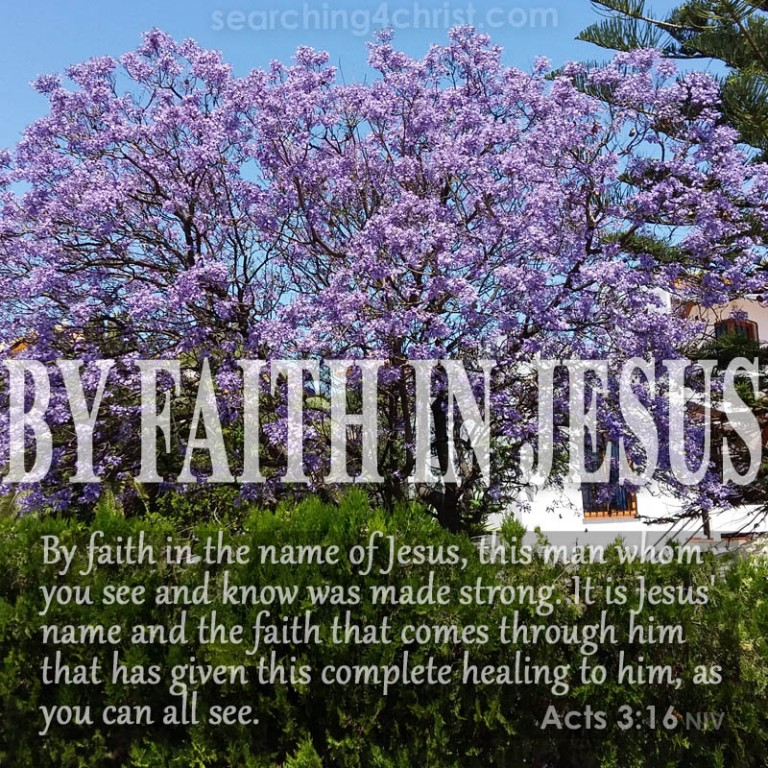 By Faith In Jesus