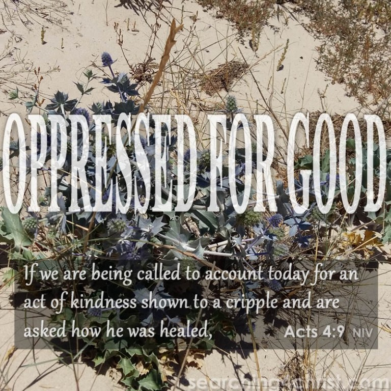 Oppressed For Good