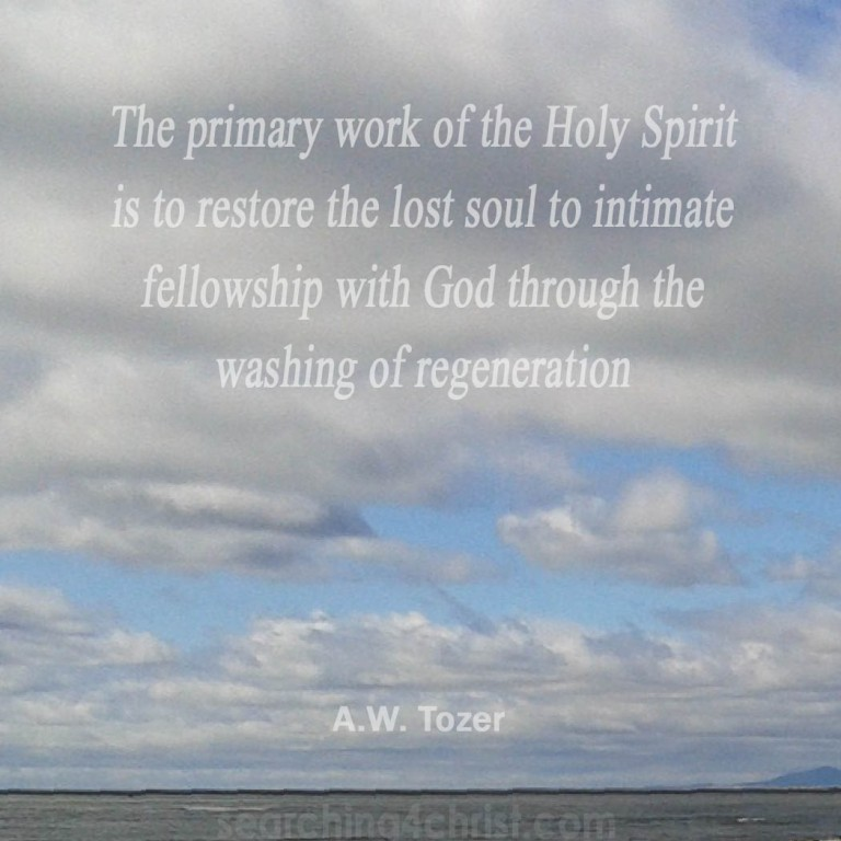 the primary work of the Spirit