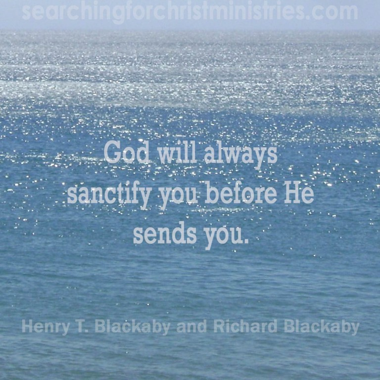 God Sanctifies First