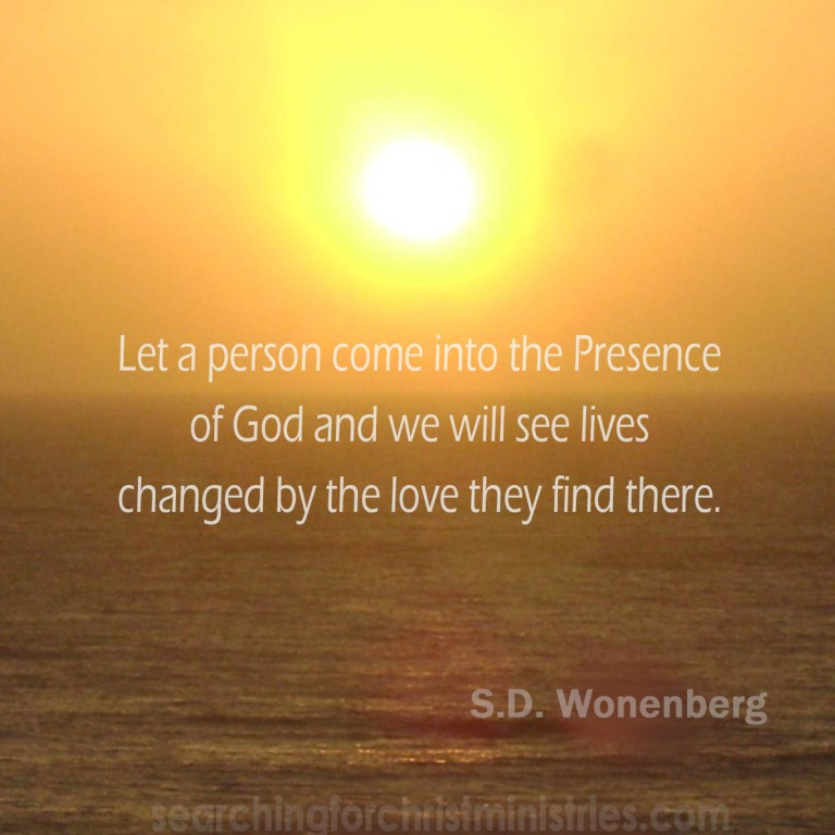 Let A Person Into The Presence