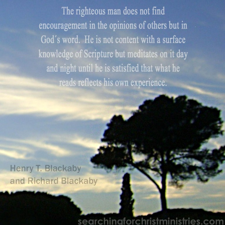 The Righteous Man In God´s Word