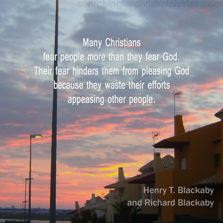 Many Christians Fear People