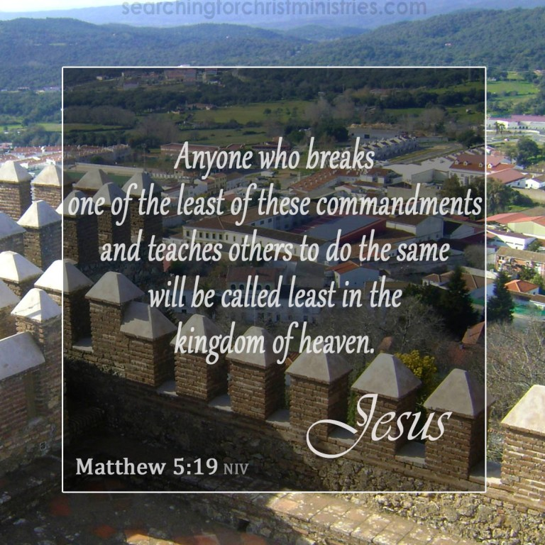 Matthew 5:19