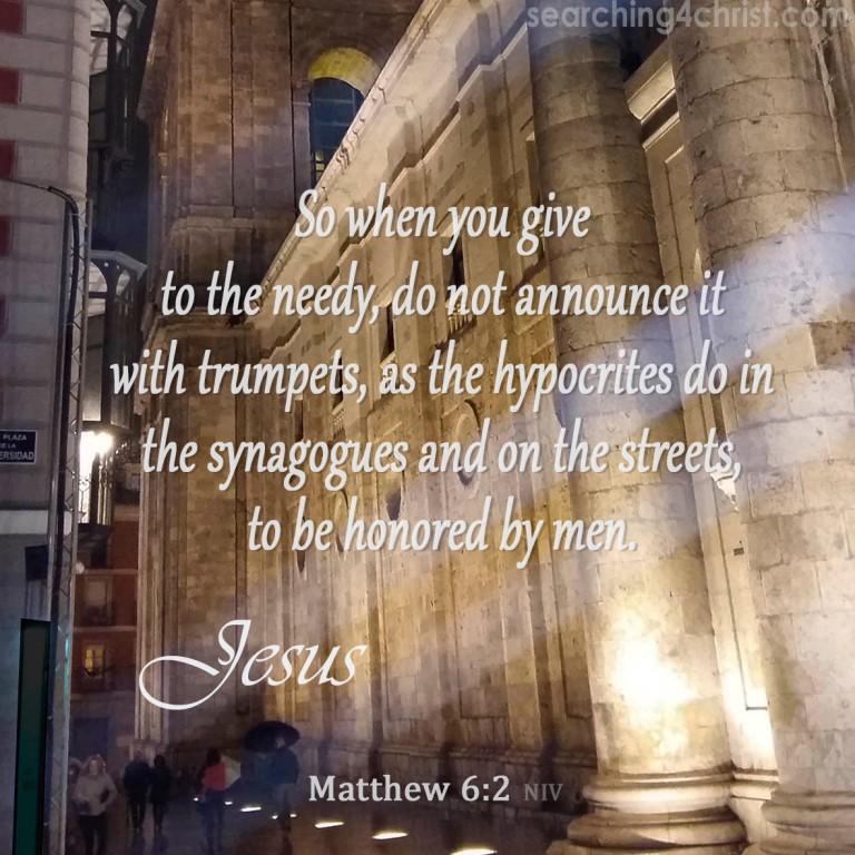 Matthew 6:2