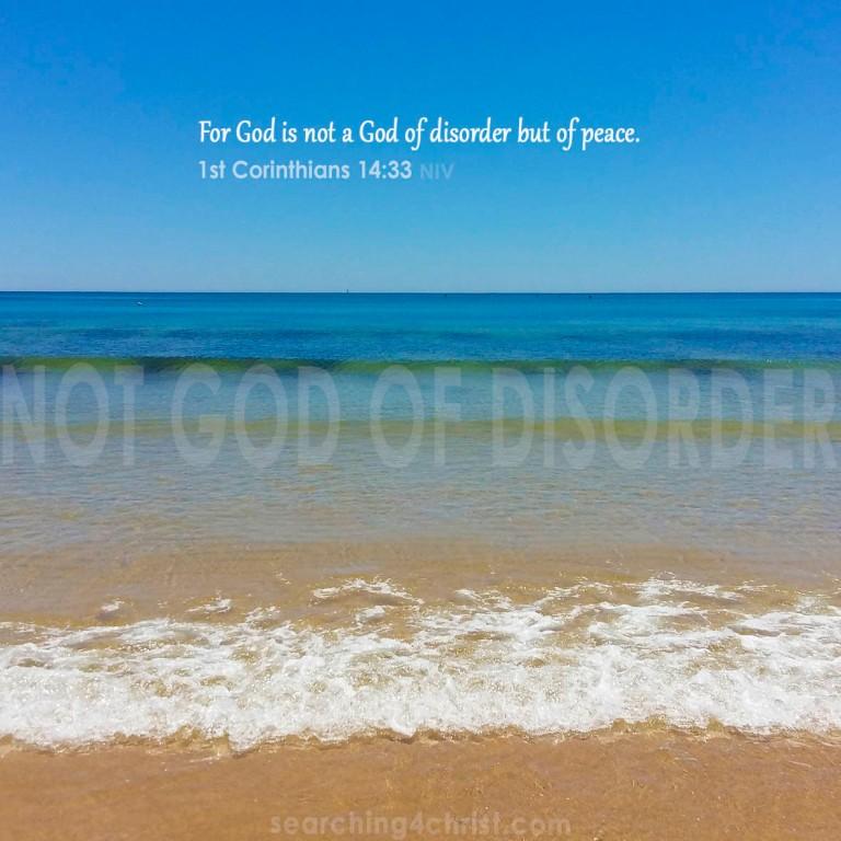 Not God of Disorder