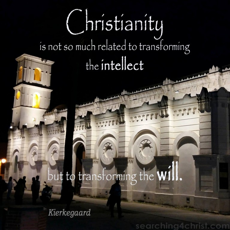 Christianity Not Intellect
