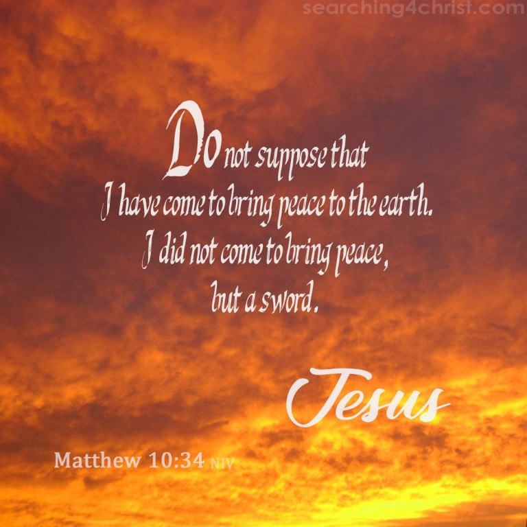 Matthew 10:34