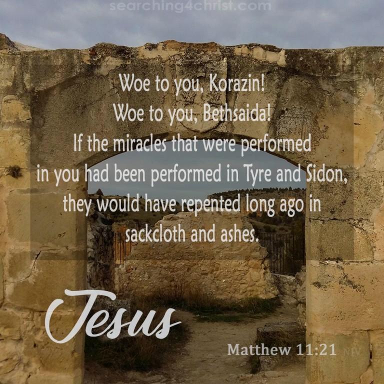 Matthew 11:21