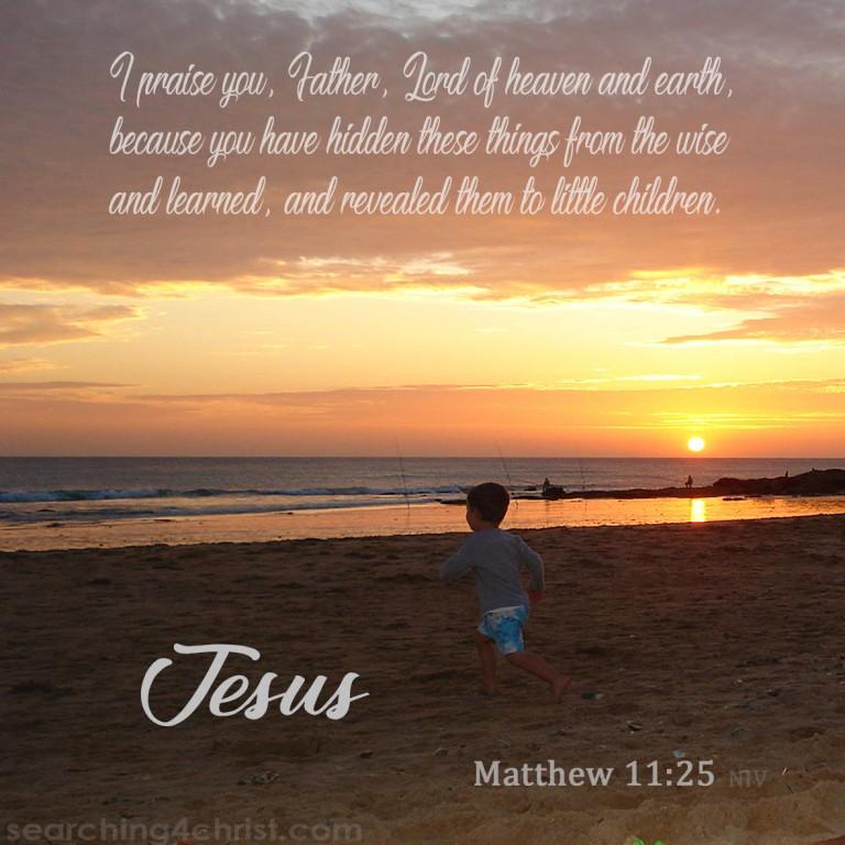 Matthew 11:25