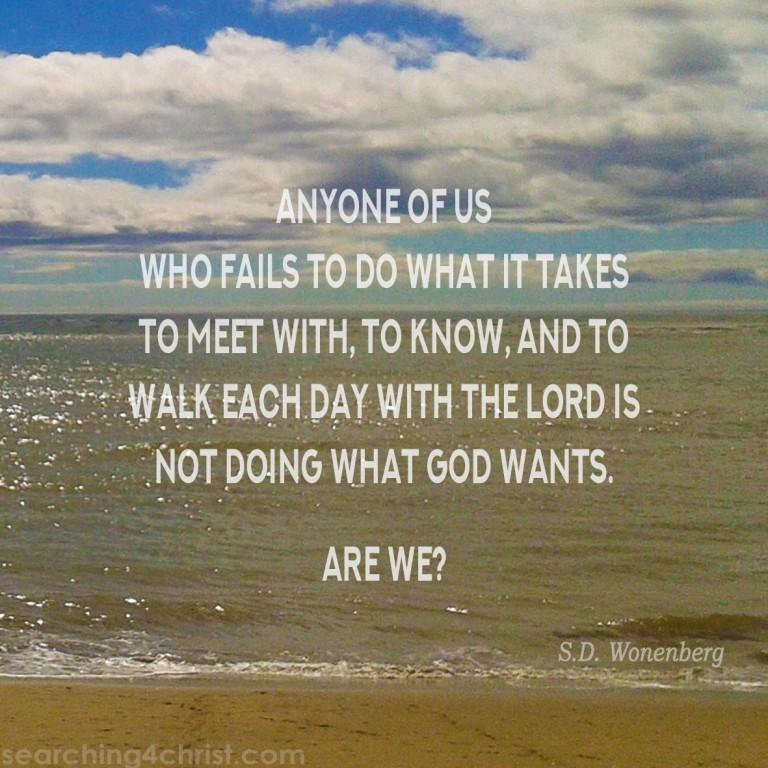 Doing What God Wants