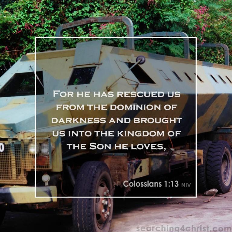 Colossians 1-13 Into the Kingdom