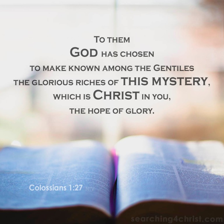 Colossians 1:27 Riches of Mystery