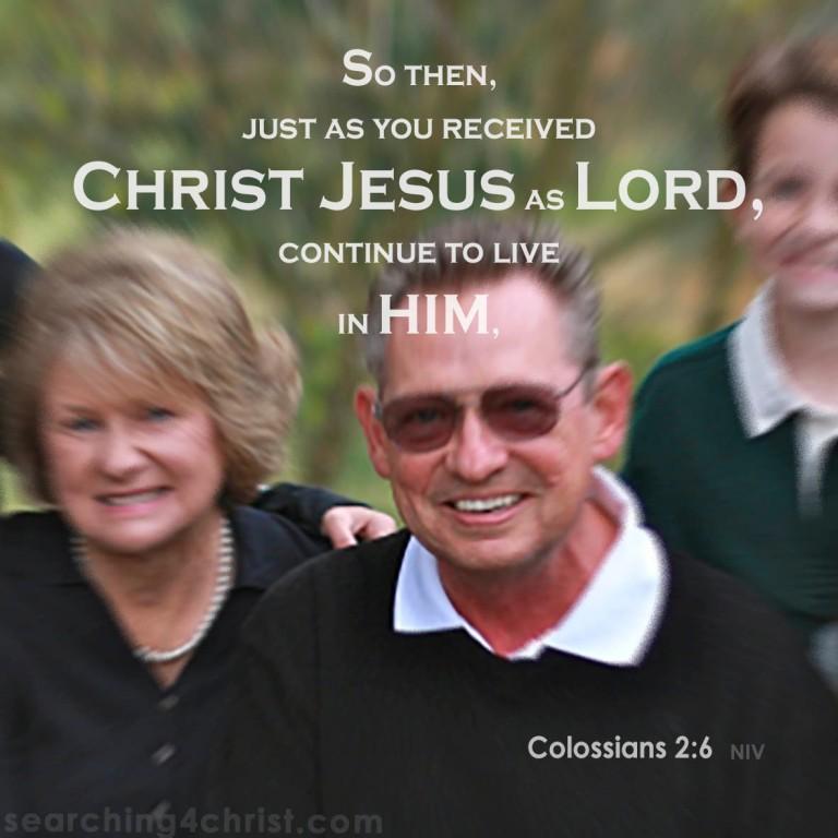 Colossians 2:6 Live in Jesus