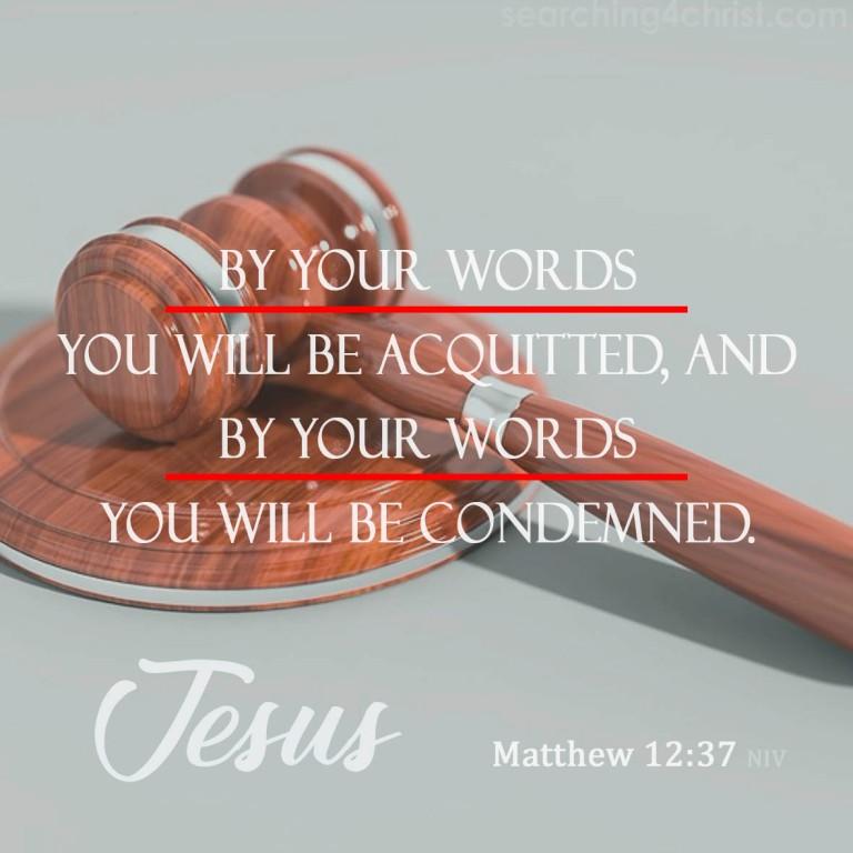 Matthew 12:37
