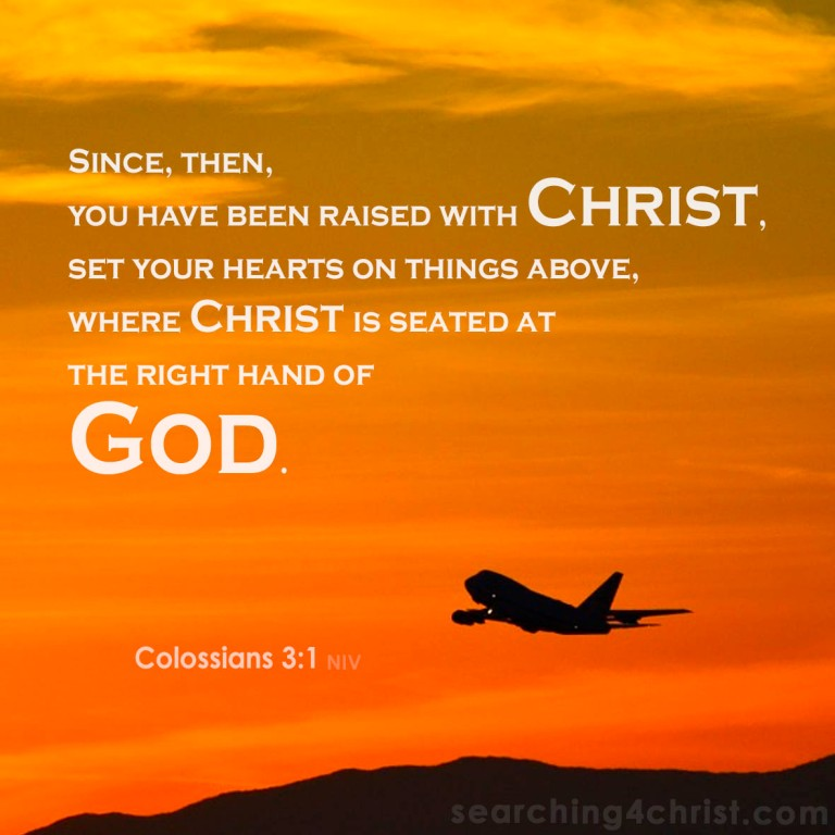 Colossians 3:1 Hearts on Things Above