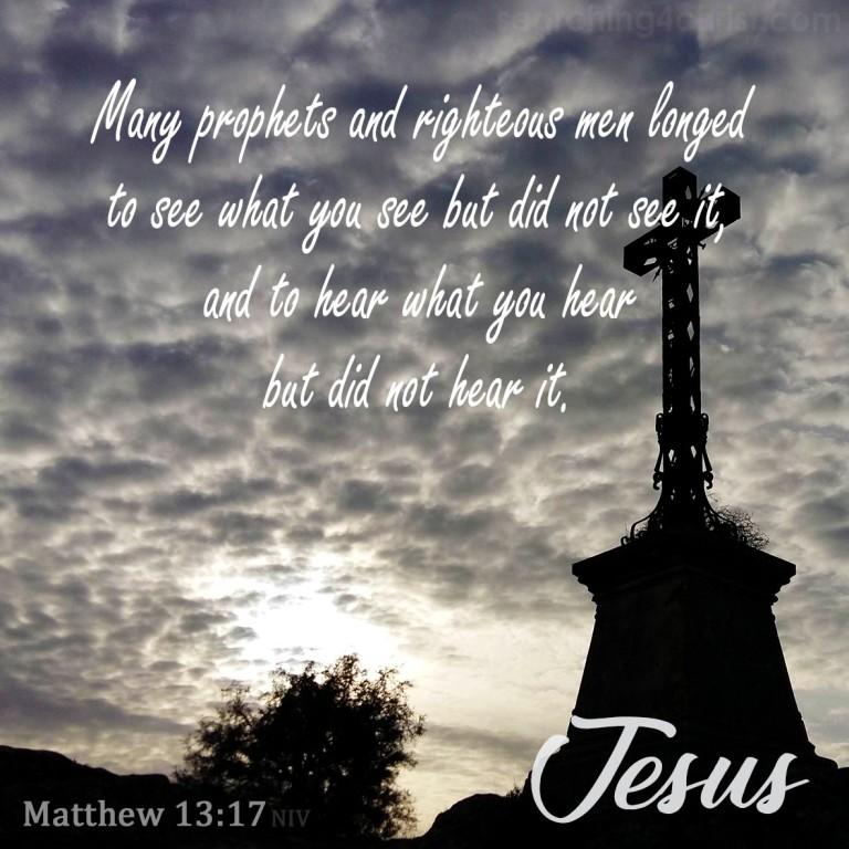 Matthew 13:17