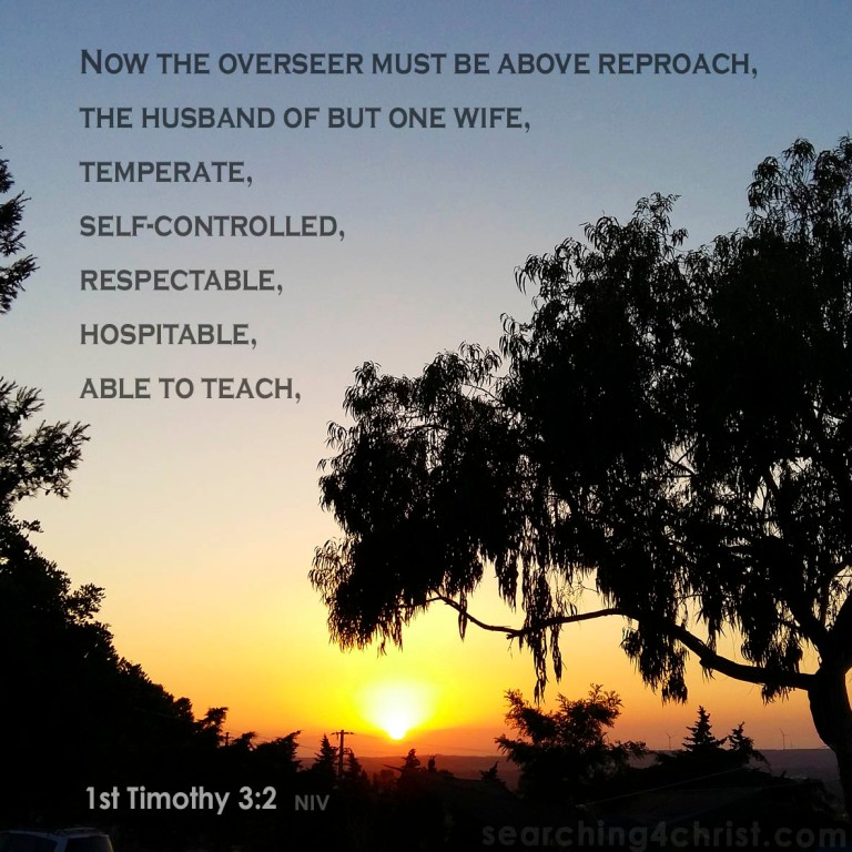 1st Timothy 3:2 Above Reproach