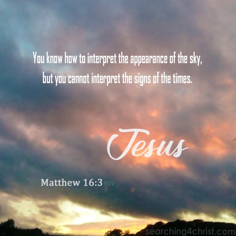 Matthew 16:3