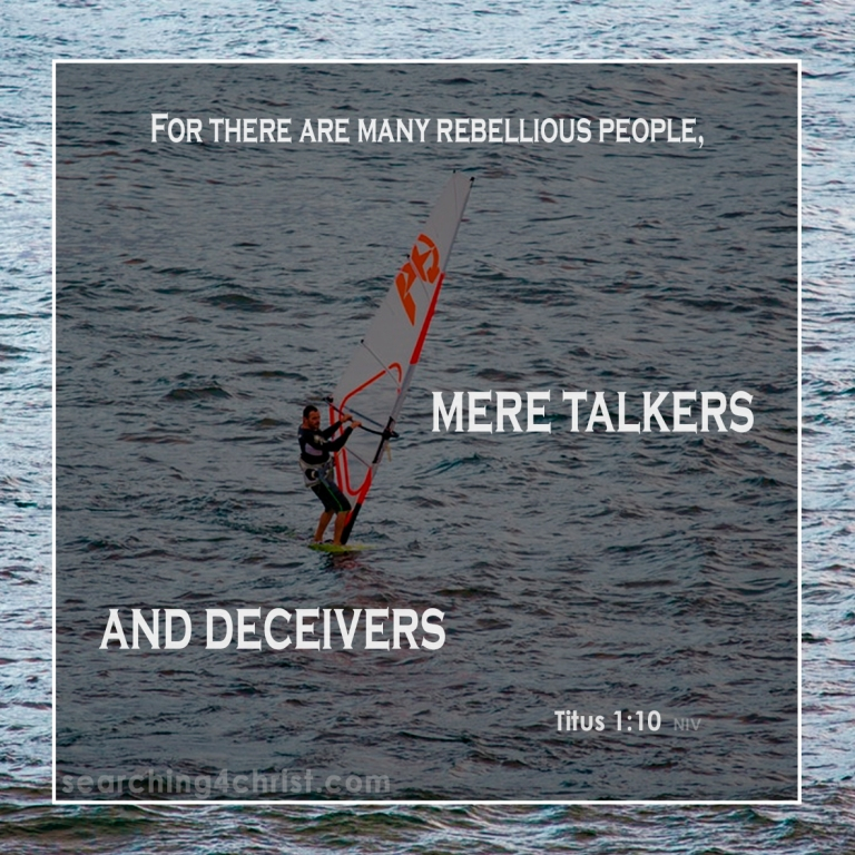 Titus 1:10 Mere Talkers