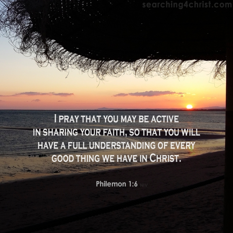 Philemon 1:6 Active Faith