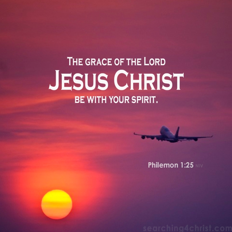 Philemon 1:25 Grace With Spirit