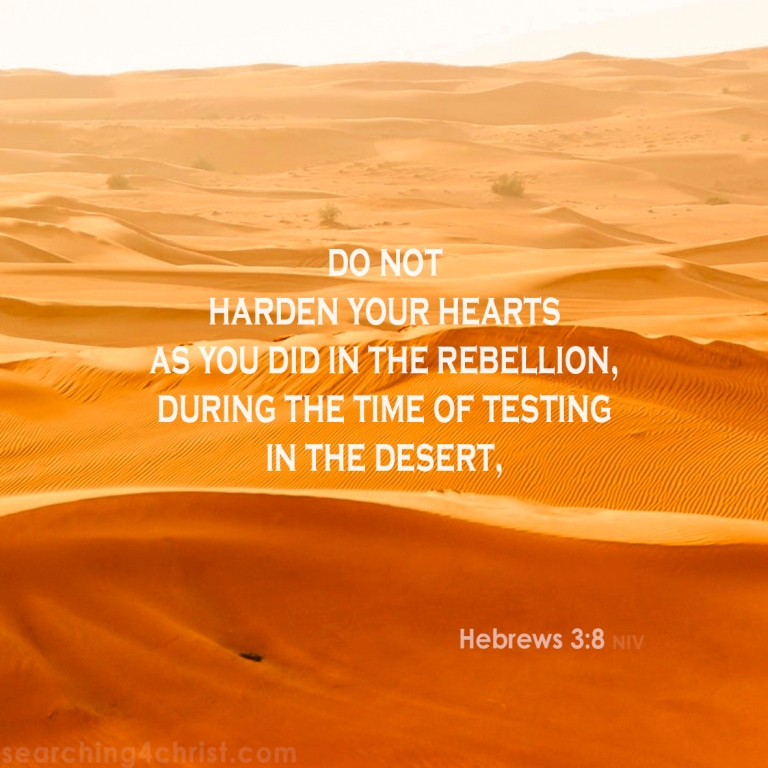 Hebrews 3:8 Hardened Hearts