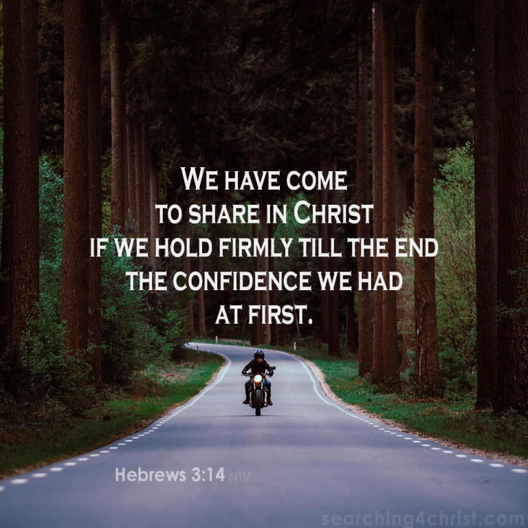 Hebrews 3-14 Hold to Share