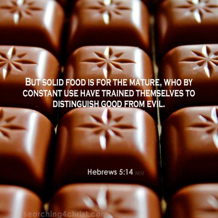 Hebrews 5:14 Our Food