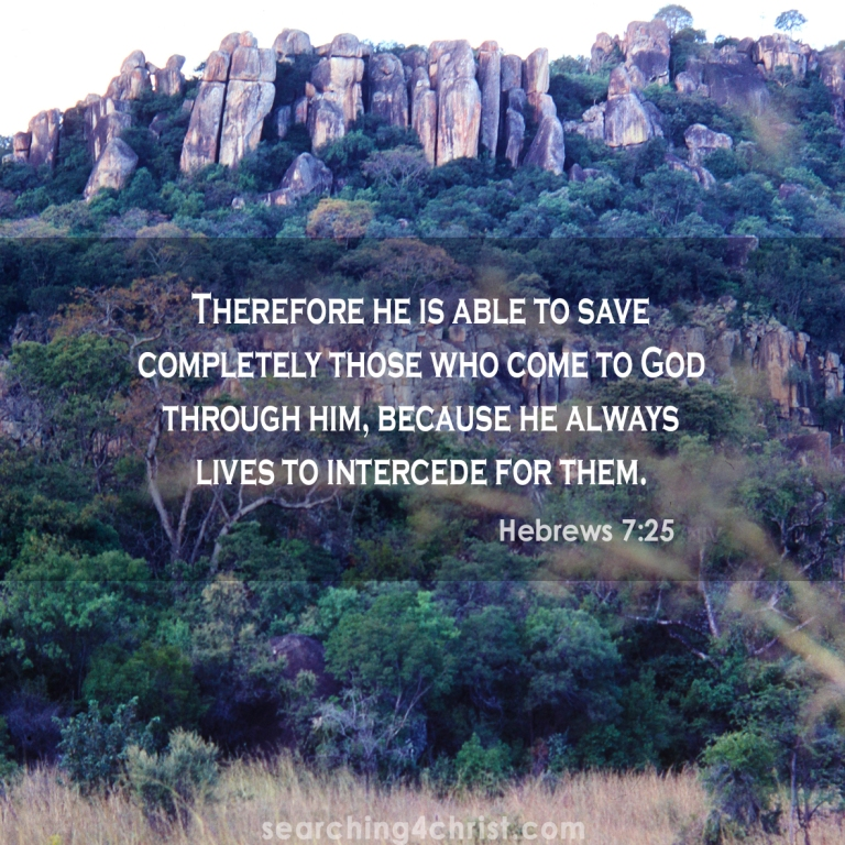 Hebrews 7:25 Through Jesus