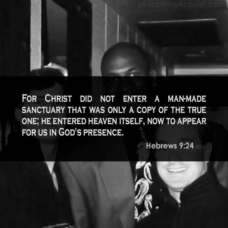 Hebrews 9:24 in God´s presence