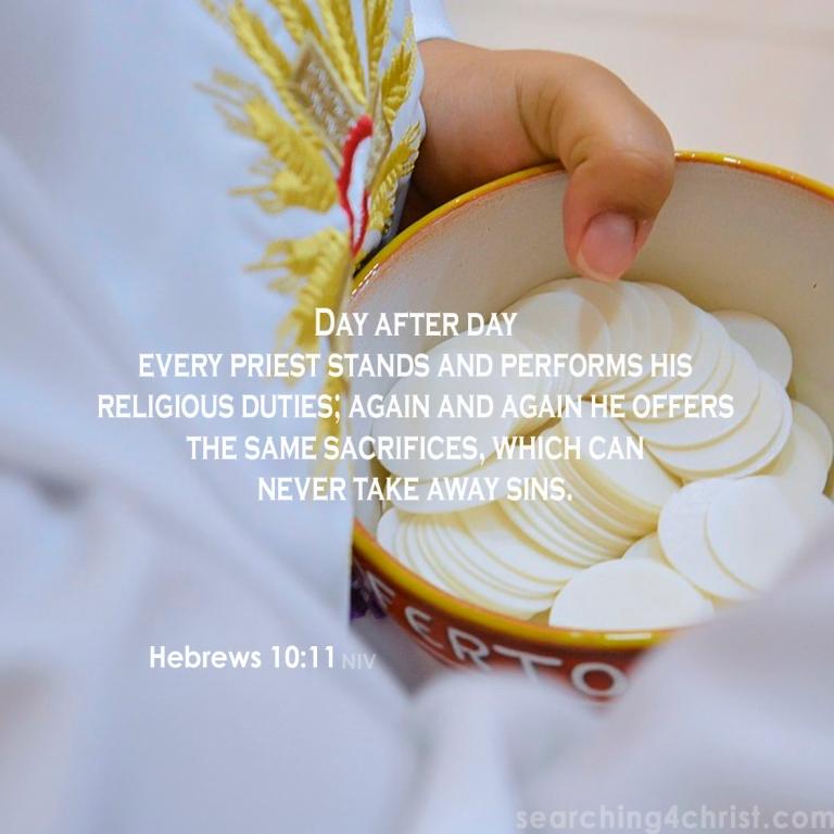 Hebrews 10:11 take away sins