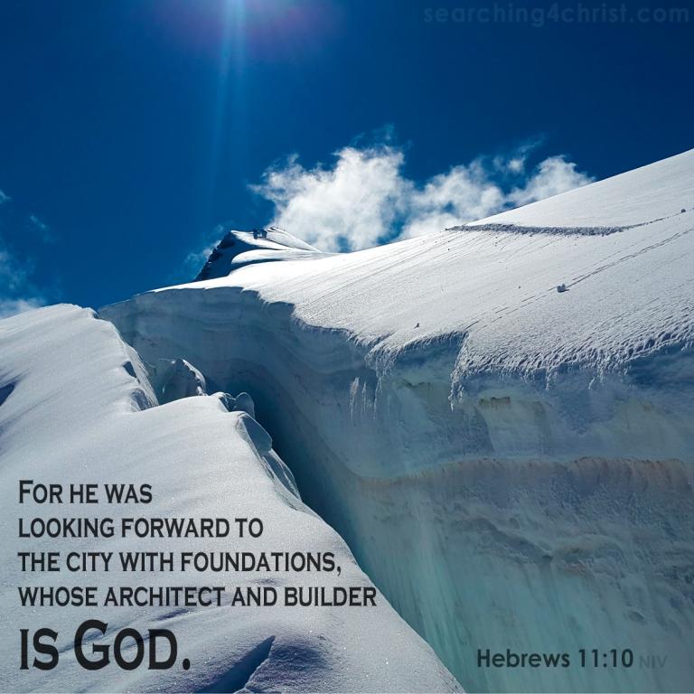 Hebrews 11:10 faith looking forward