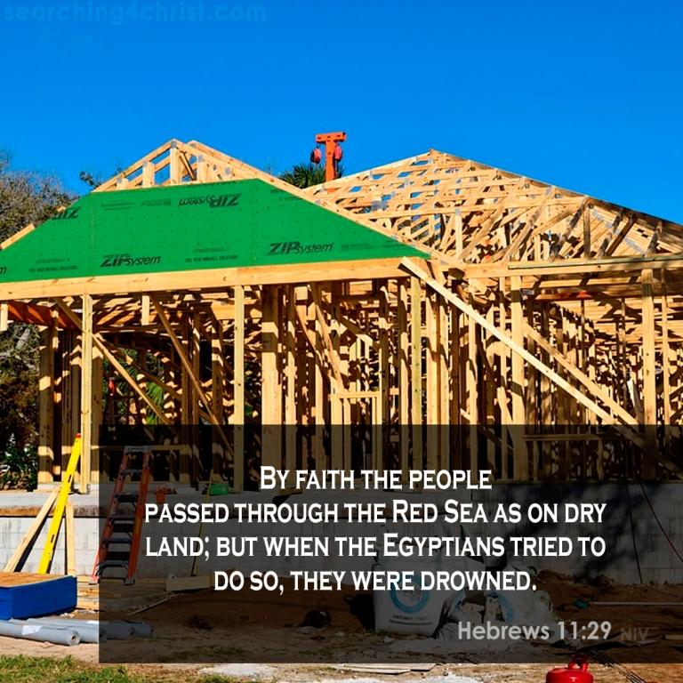 Hebrews 11:29 Distinguishing Faith