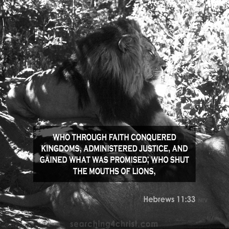 Hebrews 11:33 Faith Above Lions