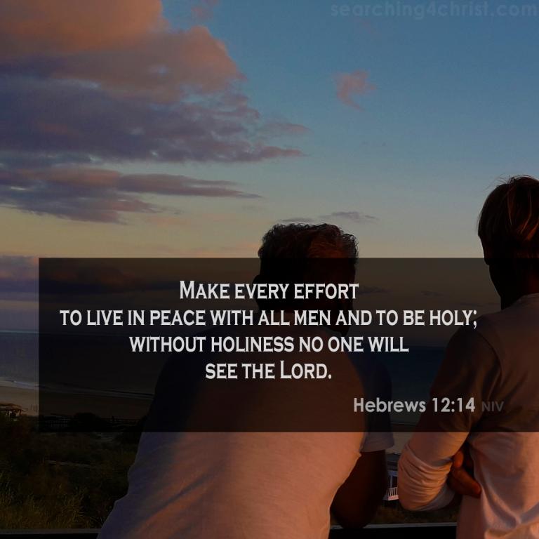 Hebrews 12:14 No Holiness, No God