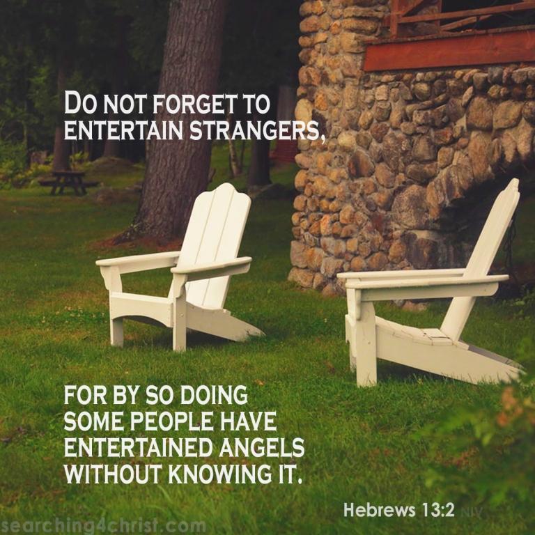 Hebrews 13:2 Entertaining Strangers