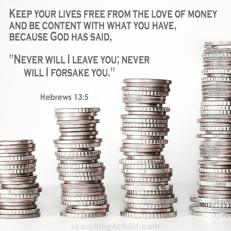 Hebrews 13:5 The Love of Money