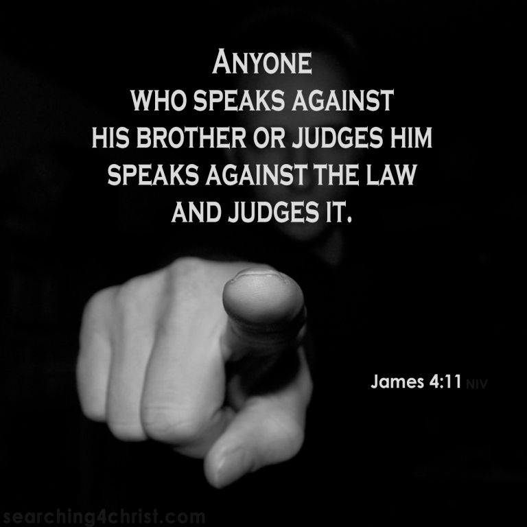 James 4:11 Brother Against Brother