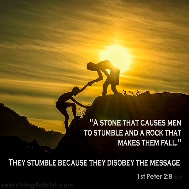 1st Peter 2:8 A Stone and a Fall