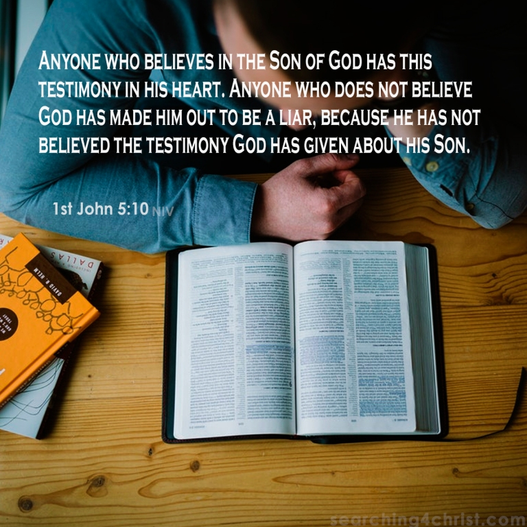 1st John 5:10 Believe God